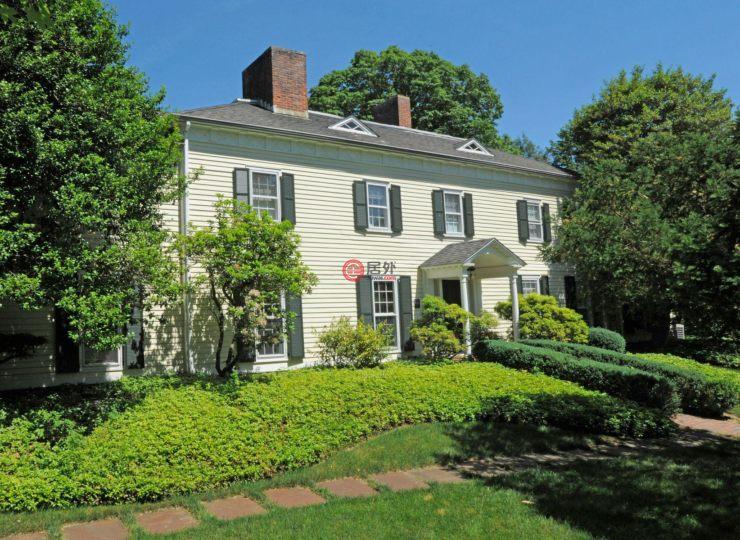 美国康涅狄格格林威治4卧6卫的别墅瓷砖房产餐厅图片