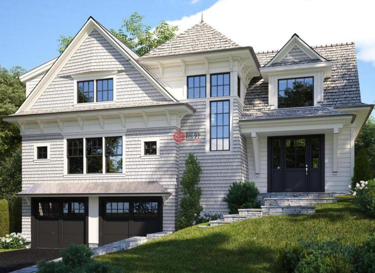 美国康涅狄格格林威治5卧5卫的房产高档别墅广告词图片