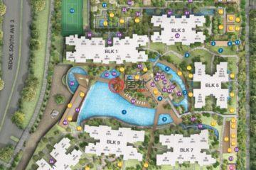 居外网在售新加坡2卧1卫新开发的房产总占地51平方米SGD 894,000