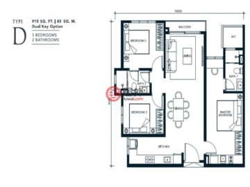 马来西亚Federal Territory of Kuala LumpurKuala Lumpur的新建房产,编号49933849