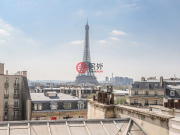居外网在售法国巴黎2卧3卫的房产总占地164平方米EUR 3,750,000