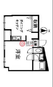 日本Tokyo Prefecture东京的公寓,西新井栄町3丁目18-5,编号57513758