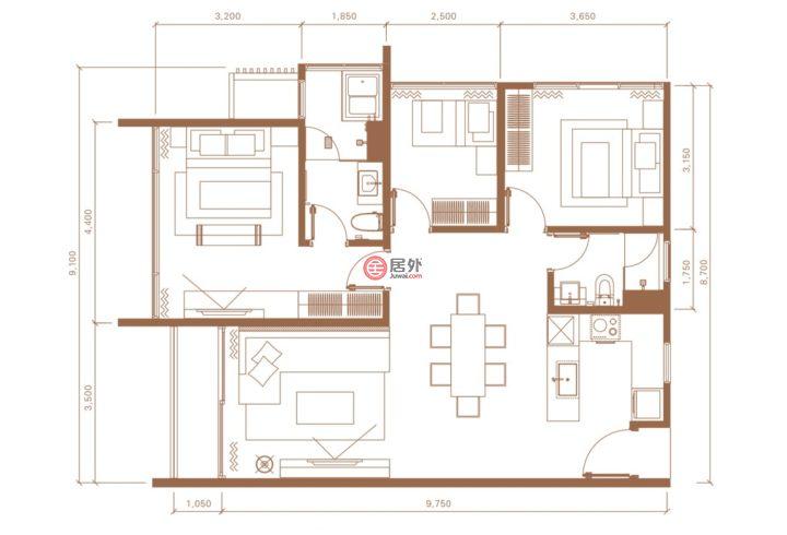 马来西亚Kuala Lumpur吉隆坡的房产,Lorong Stonor,编号49457440