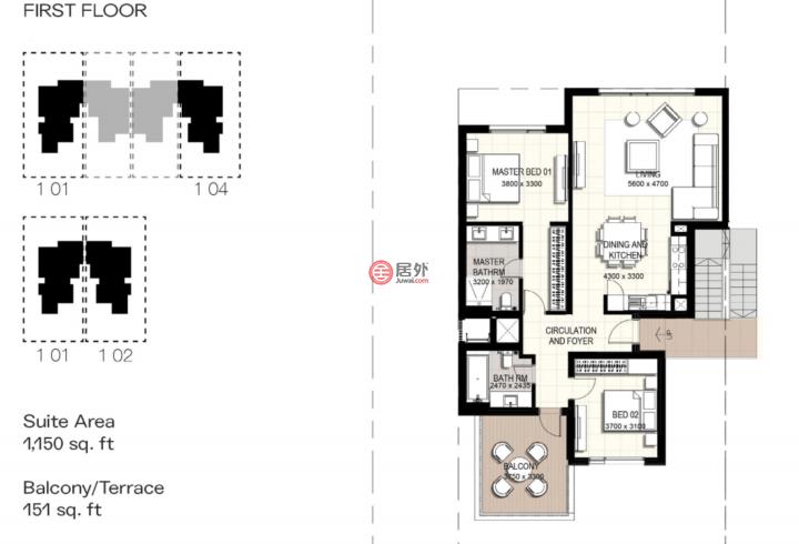 阿联酋迪拜迪拜的房产,URBANA,编号54816152