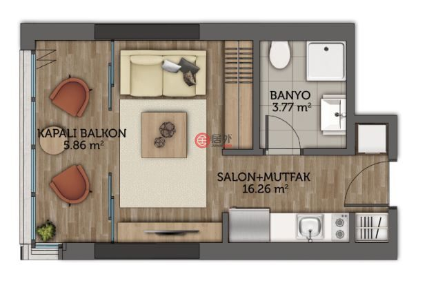 土耳其伊斯坦布尔Maslak的房产,Kordon Istanbul.cendere avenue,编号45953962