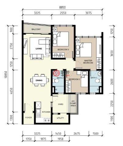 马来西亚Kuala Lumpur吉隆坡的房产,Taman Maluri,编号51740619