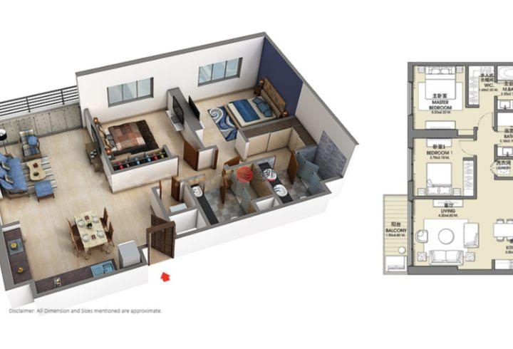 阿联酋迪拜迪拜的房产,迪拜市中心,编号54983906