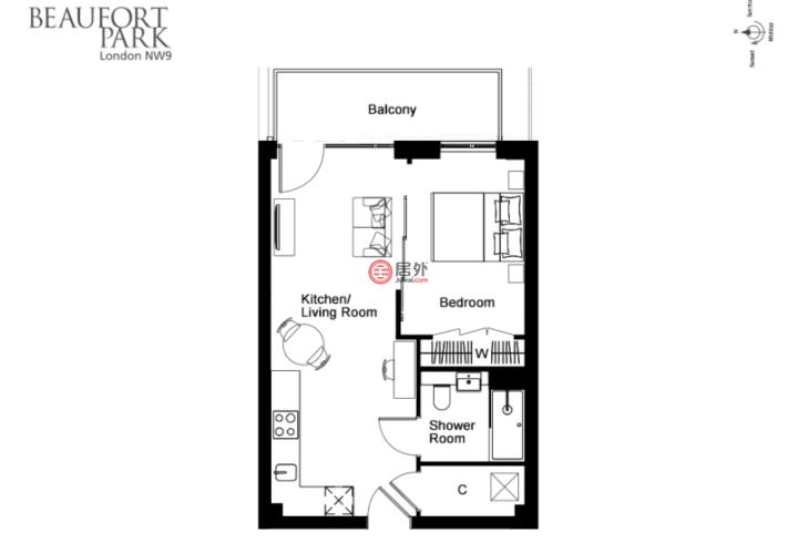 英国英格兰伦敦的房产,博福特庭院,Beaufort Park,伦敦四区,编号28969187