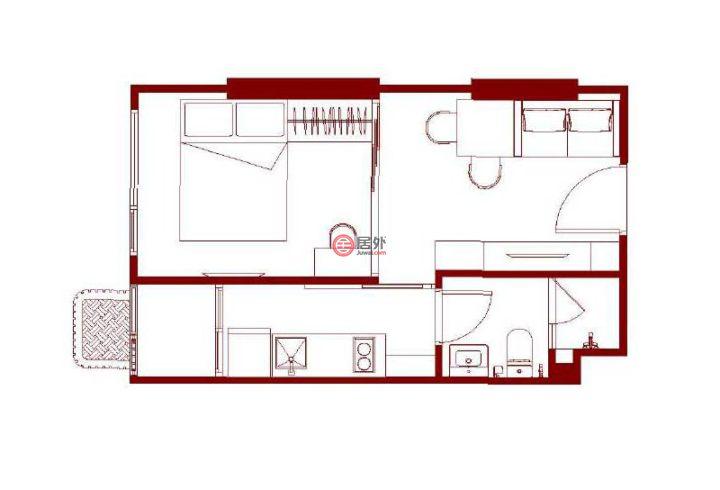 泰国Bangkok曼谷的房产,泰国曼谷普夏S101,距素坤逸BTS450米,素坤逸高性价比楼盘,编号54139381