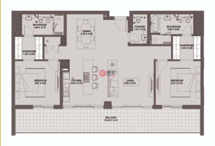 阿联酋迪拜Dubai World Central的房产,maydan ,编号45576824