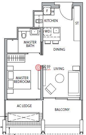 新加坡SingaporeSingapore的房产,Jiak Kim Street,编号52198775