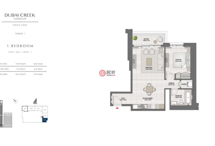 阿联酋迪拜迪拜的房产,编号47752779