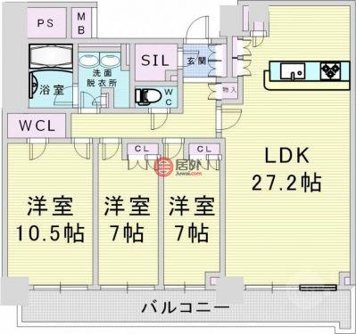 日本大阪府Osaka的房产,大阪市北区中津1-6-29,编号43484334