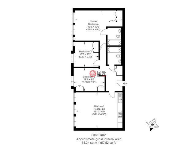 英国英格兰伦敦的公寓,College Terrace,编号59276355