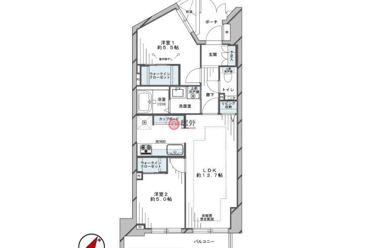 日本JapanTokyo的公寓,2-7-17 Shirokane,编号58566516