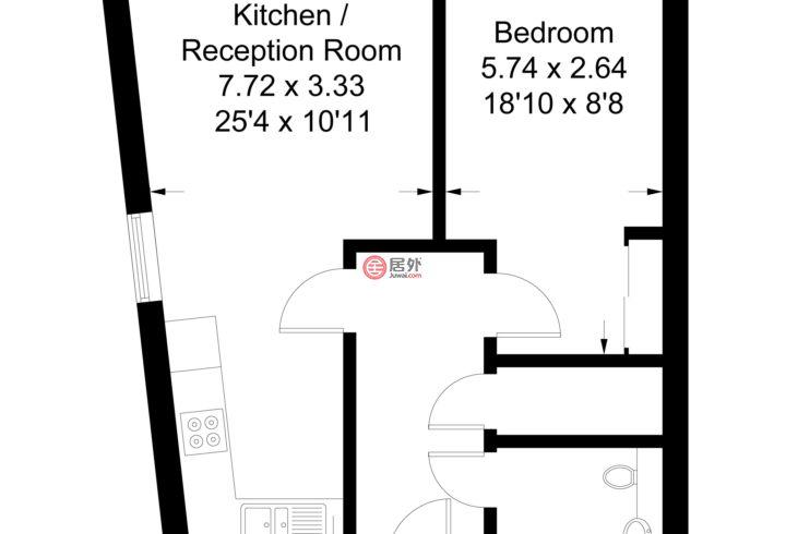 英国英格兰伦敦的房产,13 Merryfield Court,编号54929652