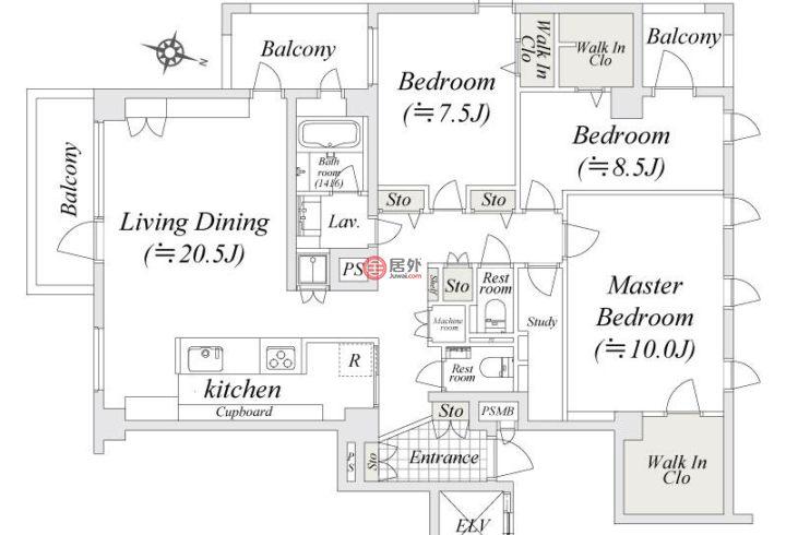 日本TokyoShinagawa的房产,编号46207600