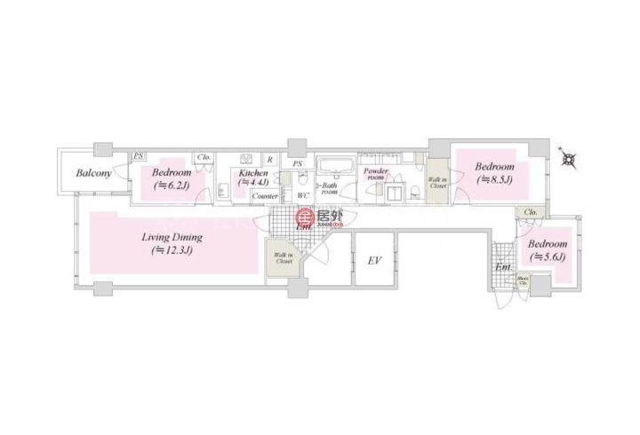 日本TokyoMinato的房产,4-3-36 (tsuginobiruonozoku) Roppongi,编号53605135